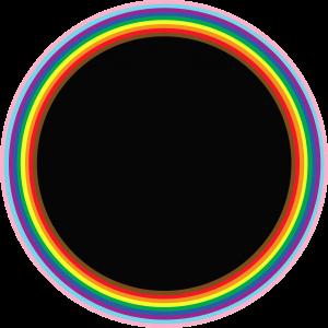 Circle 03 rainbow thin